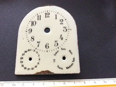 Enamel Clock Dial Face Antique Clock Part-rare type.