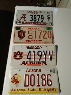 Mixed State Specialty College University License Plate Lot