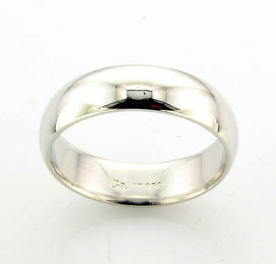 Platinum Wedding Band 5.5mm  Dome Comfort fit 9.7gm Size 8.5