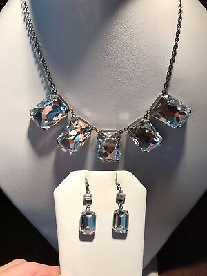 Aspire Necklace & Earrings - Touchstone Crystal by Swarovski