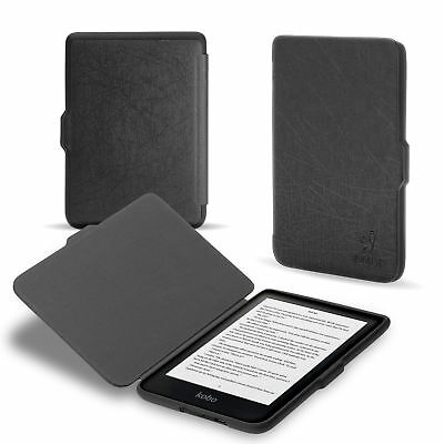 August® PU Leather Case Cover with Auto Wake Sleep for 2018 New Kobo Clara HD