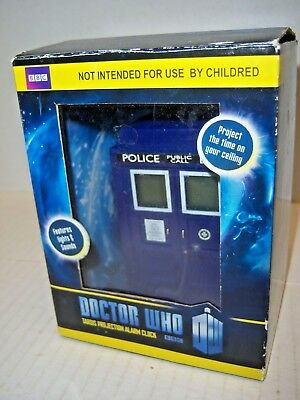 Doctor Who Tardis Projection Alarm Clock w/ box (working tested) ZEON