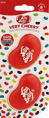 Jelly Belly DUO Vent 2 Pack VERY CHERRY Jelly Bean 3D Car A/Freshenr DESCRIPTION
