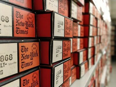 The New York Times on Microfilm, Choose a date between  Sept. 1851 - Dec. 2011