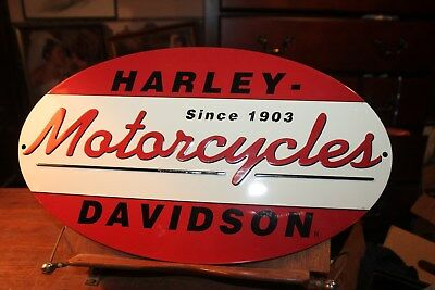 Harley-Davidson 1903 Oval Metal Vintage Antique-Look Tin Sign