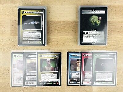 Star Trek CCG Q-Continuum - Common & Uncommon Set - 80 cards C/UC - 100% mint