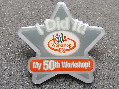 home depot collectibles  kids workshop I did it 50th workshop  lapel pin