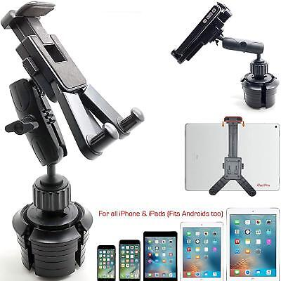 Car SUV Truck Drinks Beverage Cup Holder Mount for iPad Tablet & iPhone X 8 Plus