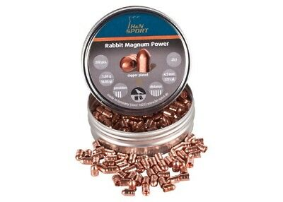 PY-P-1107 H&N Rabbit Magnum Power, .177 Cal, 16.05 Gr, Round Nose, Copper-Coated