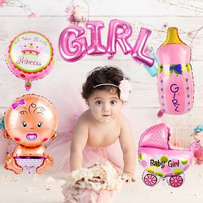 5pcs Baby Shower Foil Christening Balloon Inflatable Child Birthday Party Decor