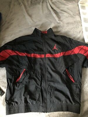 a8cd78fad61457 Nike Air Jordan 5 Vault Jacket Mens Sz XL University Red Black 907789-010  NWT