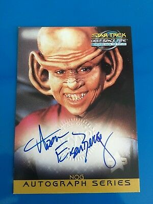 1999 Skybox Star Trek Autograph Signature Auto On Card Aron Eisenberg Nog Nine