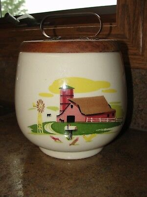 Vintage Barn Scene Cookie Jar