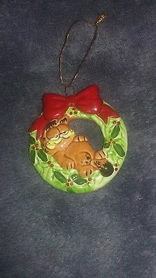 Vintage Enesco Garfield Christmas ornament