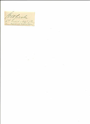 Signature Of 1Lt. W.W. Cooke 7th Cavalry Adjutant. Killed At The Little Big Horn