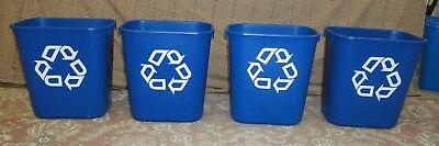Lot of 4 Rubbermaid Recycle Waste Baskets  13.25 qt EXCELLENT condition