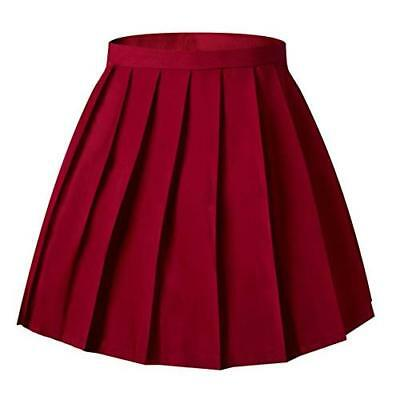 BJD MSD doll Minifee size 1/4 pleated skirt clothes Red