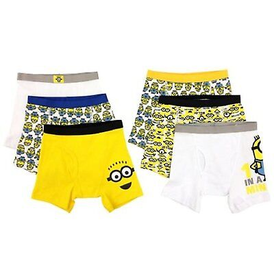 Handcraft Minions Despicable Me 6-Pack Boys Boxer Brief Size 4 6 8