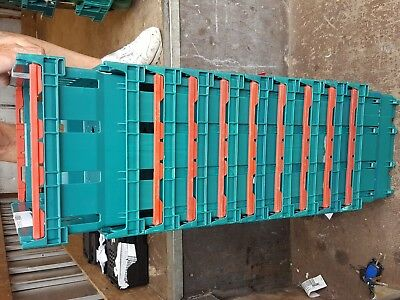 10 x Small GREEN  Bail Arm Mushroom Crates Vegetable Storage Boxes 40-30-20