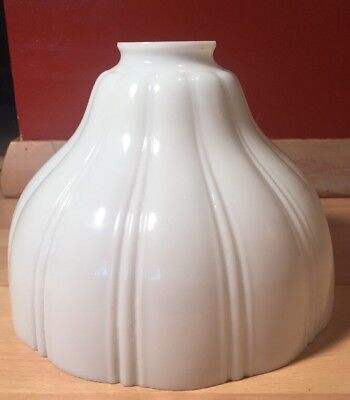 Vintage Milk Glass Scalloped Torchiere Lamp Shade Antique Light Art Deco