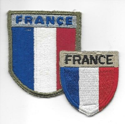 Two Different Sizes French Forces In Training In U. S. A. Patches