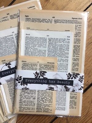 Vintage Dictionary Pages Ephemera Paper Pack Scrapbooking Junk Journal 100 pages