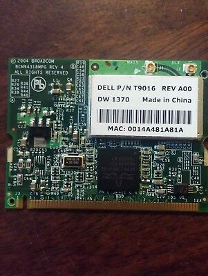 Dell Wireless Card P/N T9016 Rev A00 DW1370