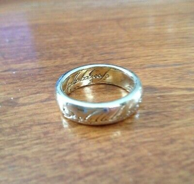 Rare Lord of the Rings Movie Ring Replica (Markings Included Inside and Outside)