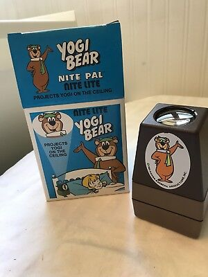 Vtg Yogi Bear Wall Plug In Night Light Hanna-Barbera Projects Yogi on Ceiling