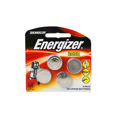 NEW Energizer Coin Battery Lithium Coin 2032 Battery 3V 4 Pack