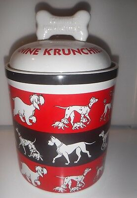 Disney 101 Dalmatians Cookie Jar KANINE KRUNCHIES - 1961 Classic Animated Dogs