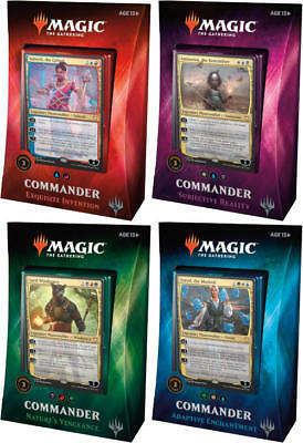 MTG Magic the Gathering Commander 2018 Deck SET of 4 Decks SEALED IN HAND!!