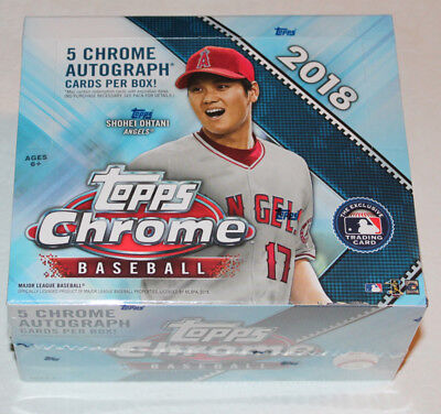 2018 Topps Chrome Baseball Sealed Jumbo Box Includes Free Priority Shipping