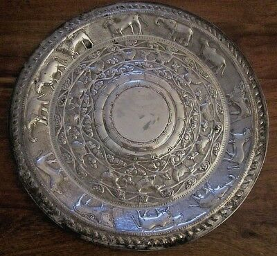 Antique Indian Solid Silver Plate___#5