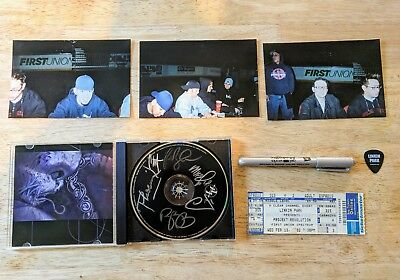 Autographed Hybrid Theory EP Linkin Park with pics + more Chester Bennington