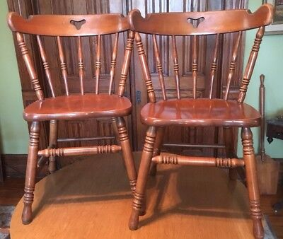 Tell City Furniture Two 8018 Chairs Solid Hard Rock Maple Andover 48 Finish