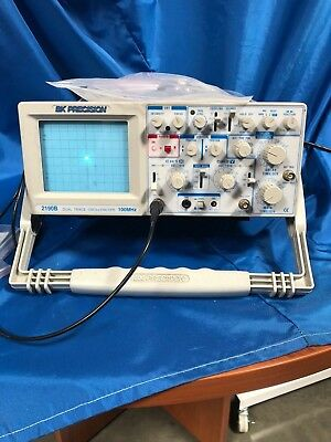 BK Precision 2190B Dual Trace Oscilloscope 100MHz w ch1 and ch2 cables