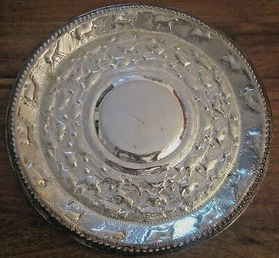 Antique Indian Solid Silver Plate___#3