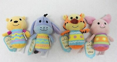 Set 4 Hallmark Itty Bittys Easter Pooh Tigger Eeyore Piglet New Free Shipping