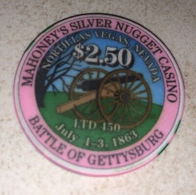 Mahoney's Silver Nugget $2.50 Casino Chip Las Vegas Nevada 2.99 Shipping