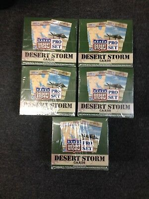 5 Box LOT 1991 PRO SET Desert Storm Trading Cards 180 Packs