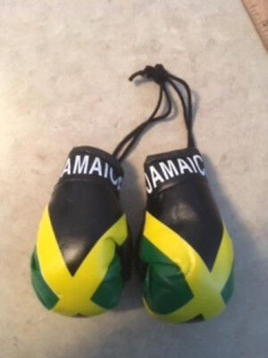 Jamaica Mini Boxing Gloves Flag Decoration Car Truck Mirror Ornament Jamaican