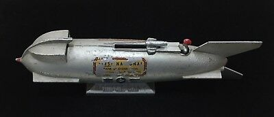 Rocket Bank 1960's Era / Base Metal Vintage Working Coin Bank
