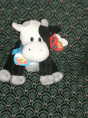 """Ty Charlie The 2.0 Beanie  Cow  6"""" Tall - Unused Code  - 2009 -  Mwmt"""