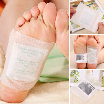 10Pcs Detox Foot Patches Pads Body Toxins Feet Dimagrante Detergente alle erbe