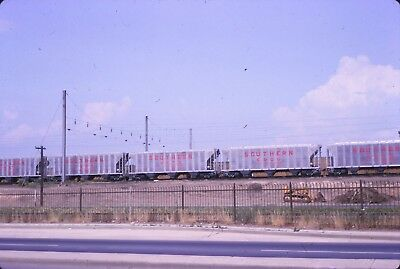 Original slide Southern Railway new aluminum covered hoppers in 1964