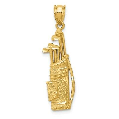 1669cdb1f2135 14K YELLOW GOLD Volleyball Pendant Charm Necklace Sport Man Fine ...
