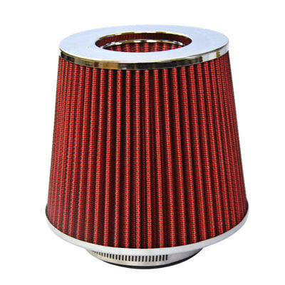 """RED 3.5 Inches 3.5/"""" 89mm Inlet Cold Air Intake Cone Long TRUCK FILTER For Lexus"""