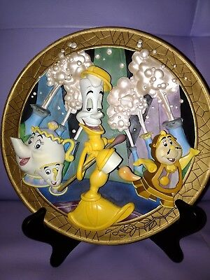 Beauty and the Beast Limited Edition Collectors Plate with Stand... Very Rare