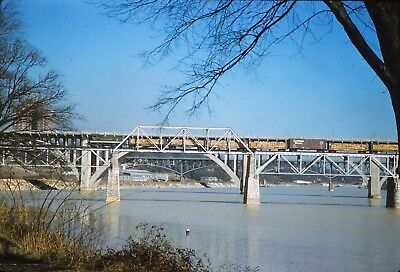 Original slide Southern Rwy #6507 bridge action Knoxville, TN in 1959